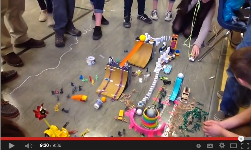 how to make a rube goldberg science project
