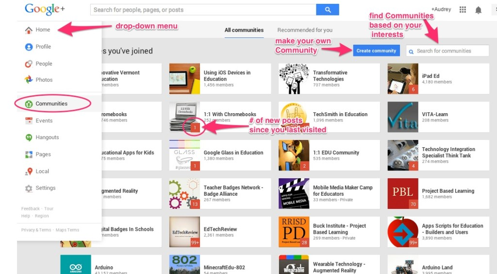 Getting started with Google+ Communities