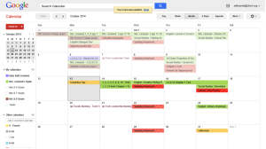 leveraging google calendar in the classroom