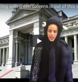 green screen storytelling VT students