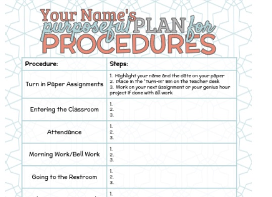 resources for building community: a purposeful plan for procedures by Meredith Akers
