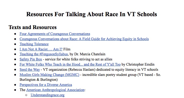 resources for talking about race #1st5days