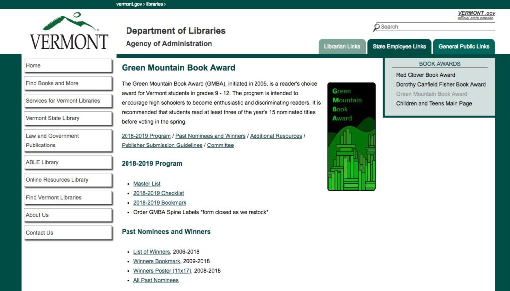 Green Mountain Book Awards
