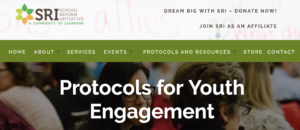 A snapshot from the School Reform Initiative's website with tools for Protocols for Youth Engagement.