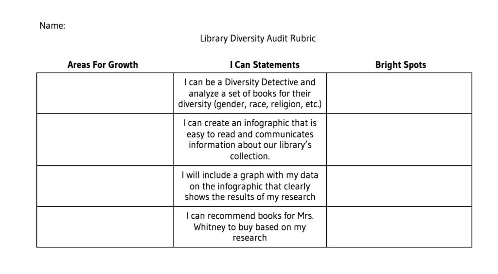 library audit rubric