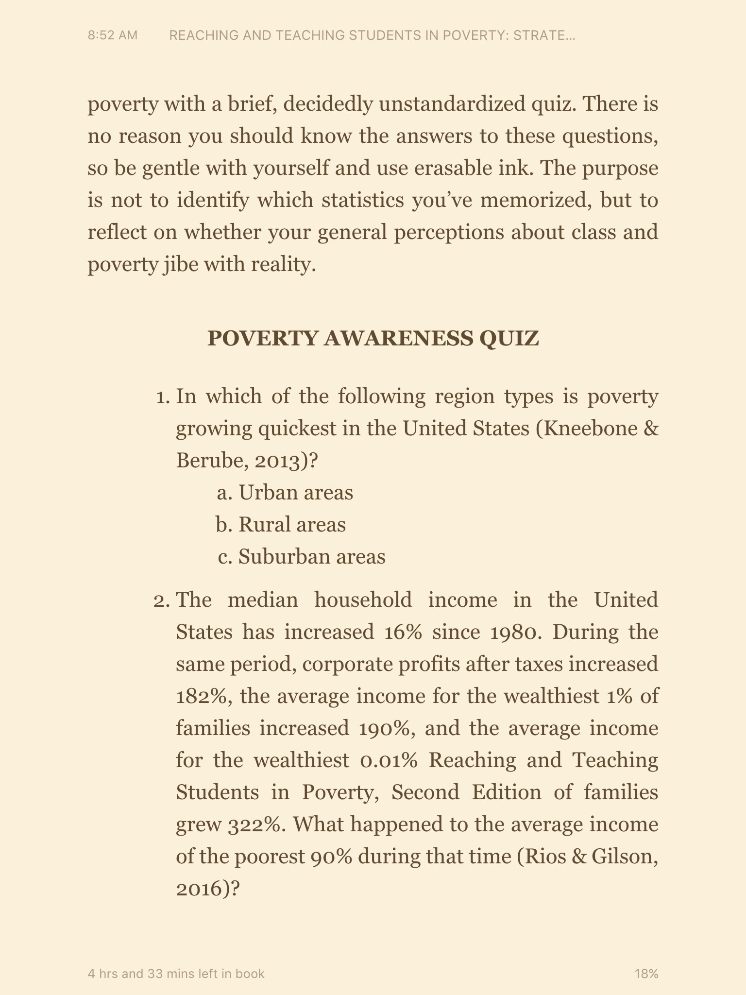 Photo from the book: Poverty Awareness Quiz