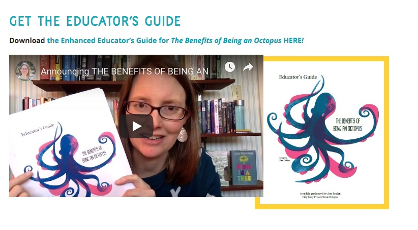 link to The Benefits of Being an Octopus educator's guide