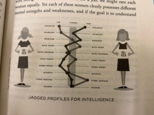 Jagged profiles for intelligence from page 89 of The End of Average