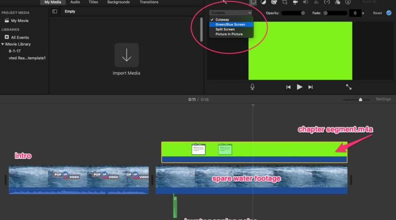 Pop Up eduvideo: make a chapter segment in iMovie