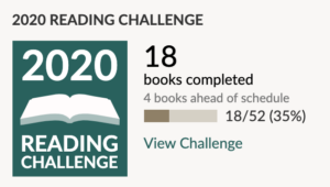2020 Goodreads reading challenge and progress.