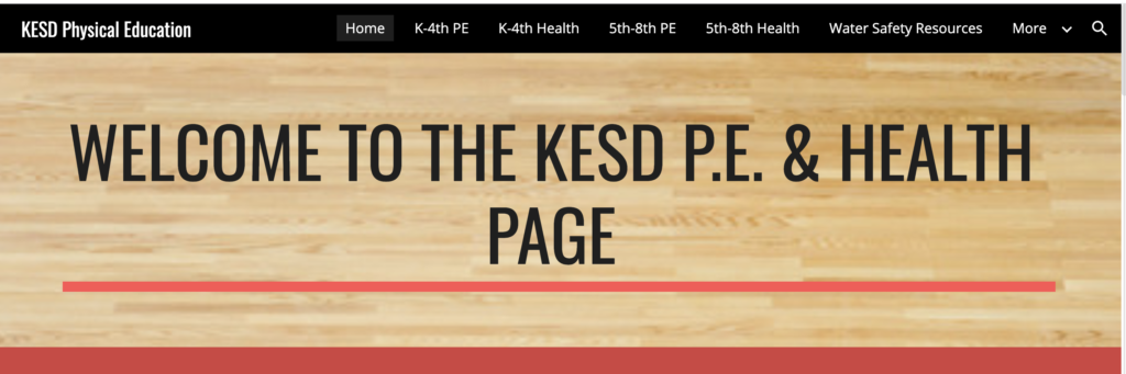 physical education and remote learning KESD homepage