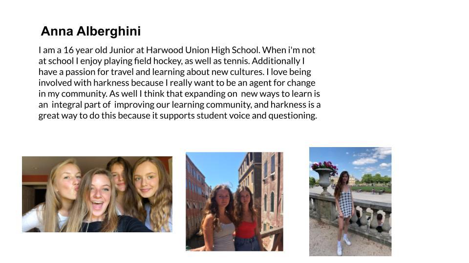 Anna Albertini, Harwood Union High School