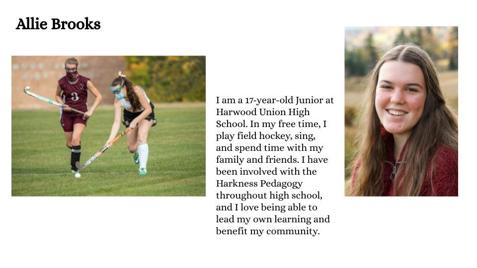 Allie Brooks, Harwood Union High School