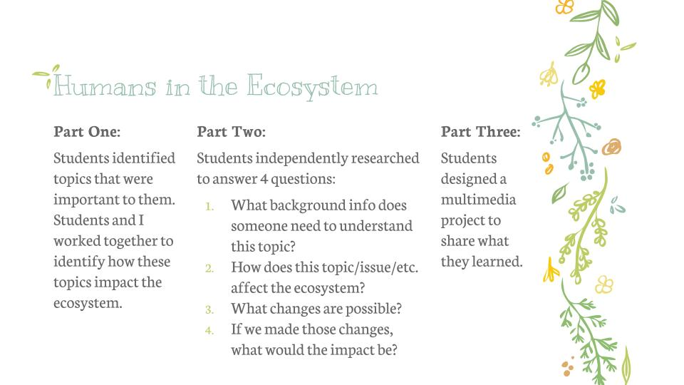 Humans in the Ecosystem: three methods